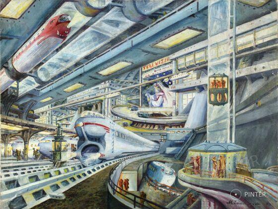 Unknown:  Future (oil, canvas, 46 x 61 cm, s.r.l.: M. Omiechowski 955) Starting price: 120.000 HUF