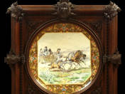 Decorative Plate with Folk Life Scene Decoration