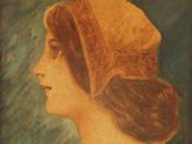 Art Nouveau woman portrait