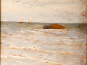 Italian Beach with Sailboats