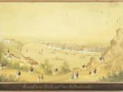 Ansicht von Pesth mit der Kettenbrücke