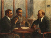 Lenin, Béla Kun and Tibor Szamuely in Negotiation