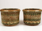Pair of Zsolnay Pots