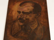 Portrait of Máté Zalka printing plate