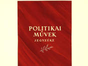 Catalogue of Political Works cover design