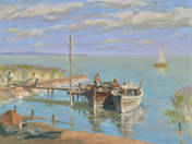 Fishermen at Lake Balaton