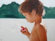 Girl with soap bubles
