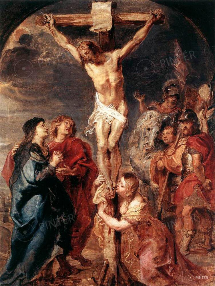 Rubens követő mester XVIII. század: Golgota