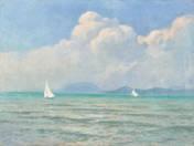 White sails with Badacsony