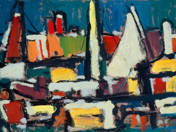 Port with sailboats