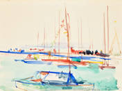 Sailboats in the port