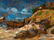 Fishermen on the waterside