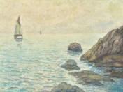 Sailboat at the rocks