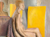 Sitting nude, made around 1970