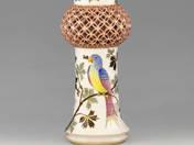 Herend vase with bird decor