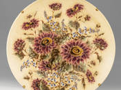 Zsolnay plate with flower decor
