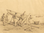 József Reichstetter: Fishermen on Balaton (5 pcs)