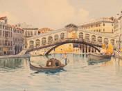 E. Bari jelzéssel: A pair of Venice painting