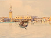 A pair of Venice painting