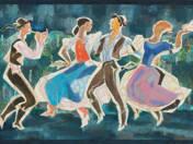 Dancers (Tokodi mosaic design) (1960)