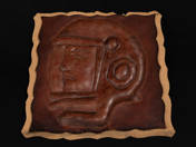 Gagarin leather relief