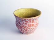 Pot with  cracked glaze