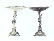 A pair of Silver dish