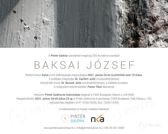 INVITATION I OPENING CEREMONY I JÓZSEF BAKSAI - SALUS I 24/06/2021