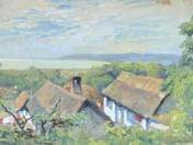Landscape With Roofs by Lake Balaton