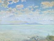 Lake Balaton with Clouds
