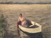 Rower on Lake Balaton