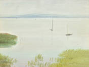 Lake Balaton With Sailing Boats