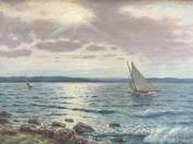 Sailing Boats on Lake Balaton
