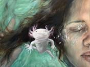 Self Portrait With Newt (2021)