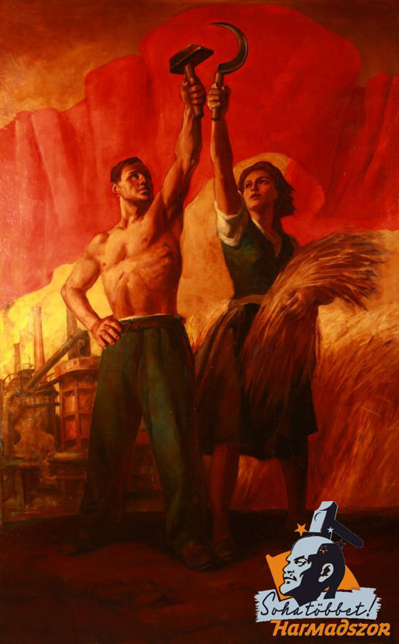Nándor Viday Brenner (1903-?): Allegory of Industry and Agriculture (oil, canvas, 255 x 162 cm, s.l.r.: Vydai Brenner N.) Starting price: 950.000 HUF