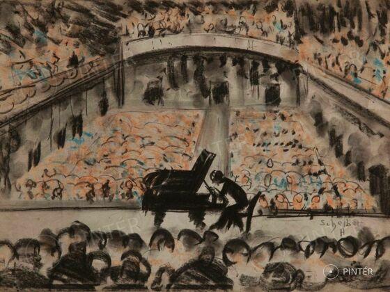 Hugó, Scheiber: Concert Hall of Music Academy (pastel, paper, 34 x 48 cm, s.l.r.: Scheiber H.) kikiáltási ár: 1.800.000 HUF