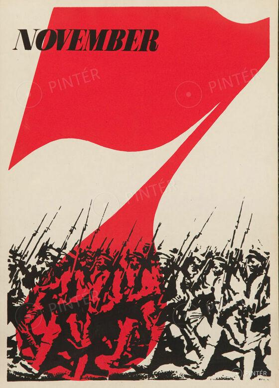 7 November Poster (offset, paper, 70 x 50 cm) starting price: 10.000 HUF