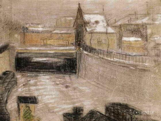 József, Rippl-Rónai: Snow in Paris (pastel, canvas, 32 x 40,5 cm, s.l.r.: RRJ) starting price: 7.500.000 HUF